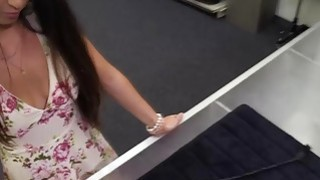Amateur latina babe shows her pornstar skills in a pawn shop Preview Image
