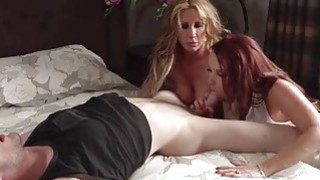 Two big tits Milfs Janet and Farrah sharing on lucky dick Preview Image