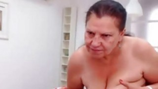 OmaFotze Mature doing striptease and masturbating Preview Image