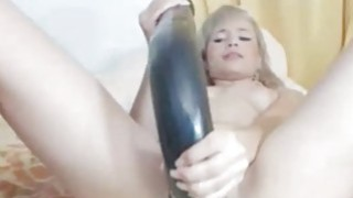 Hottie fucks pussy with long toy on webcam Preview Image