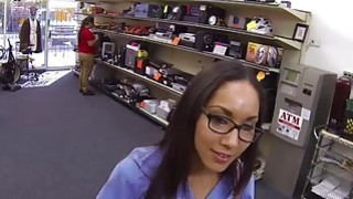 Horny Nurse fucks at the pawnshop for money Preview Image
