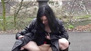 Gothic exhibitionist Fayth Corbin flashes and mast Preview Image