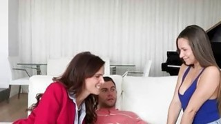 Syren De Mer and Cassidy Klein threesome on the couch Preview Image