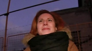 Czech redhead_banging in the car in public Preview Image