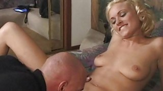 Chap cums on very chick after having sex with her Preview Image
