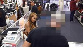 Huge boobs babe screwed at the pawnshop to earn money Preview Image