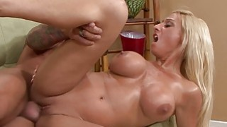 Busty blonde slut_sucking the fat and hot sausage Preview Image
