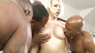 Hot babe Kagney Lynn Karter double ripped by black men Preview Image