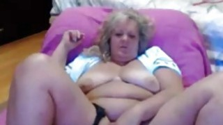 Horny granny masturbating at home using_her fingers Preview Image