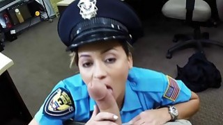 Lady Police Officer Hocks Her Gun Preview Image