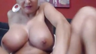 Busty amazing milf blue dildo riding at home Preview Image