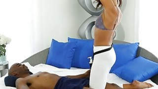 Curvy babe_gives massage and twat fucked by horny black man Preview Image
