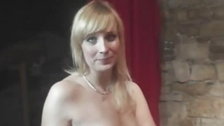 Fun with sexy MILF in backstage Preview Image