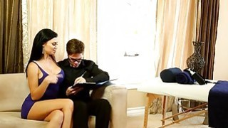 Sexy masseuse Jasmine Jae gives massage and fucked_by client Preview Image