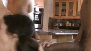 Tight teen skank Lou Charmelle dped by massive black dicks Preview Image