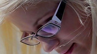 She Is Nerdy - Cumshot on glasses makes nerdy gal happy Preview Image