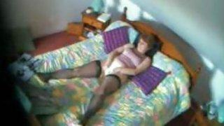 Spy vid my mom fingering in her bedroom Preview Image