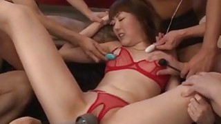 Lingerie model Rei Furuse gets_jizzed after_a wild fuck Preview Image