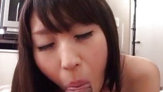 Haruna brunette angel throats cock in POV style Preview Image