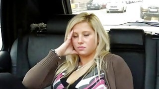 Blonde squirts and fucks in taxi Preview Image