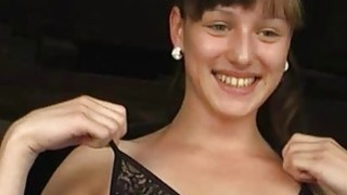Cute student stripping naked and lapdancing for little money Preview Image