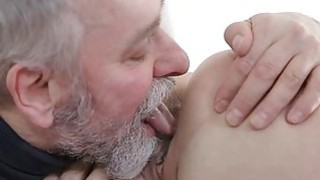 Young playgirl takes old nasty ramrod in her mouth Preview Image