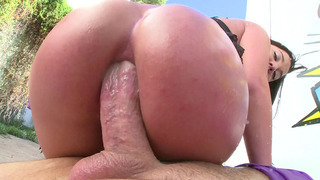 Amara Romani anally rides and sucks his shaft ass to mouth Preview Image