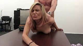 Blonde MILF loves to fuck on couch and table Preview Image