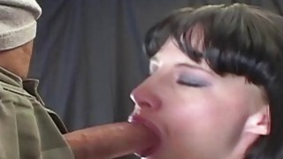 Her eyes water as she gags and deepthroats a big cock Preview Image