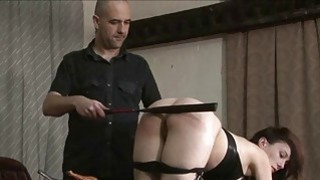 Kinky leather slave Fae Corbins amateur bdsm and h Preview Image