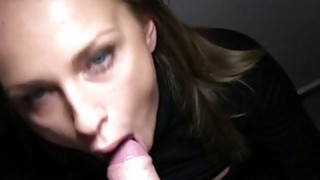 Hot blonde fucks in dark public stairwell Preview Image