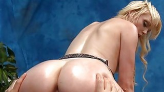 Girl gets oiled and rides large rod with passion Preview Image