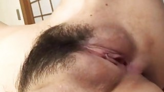 Oriental enjoys drilling for her furry cumhole Preview Image