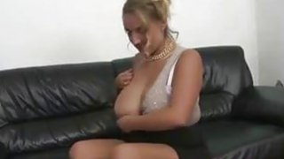 Blonde MILF with big natural tits and shaved pussy fuck Preview Image