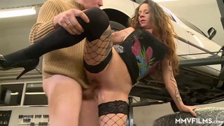 German slut gets her backdoor fixed in the garage Preview Image