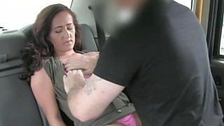 Lady in pink underwear gets fucked in the cab Preview Image