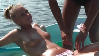 Blonde fucked hard in a boat on the lake Preview Image
