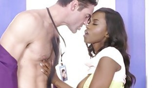 Sexy brunette babe Jezabel Vessir getting fucked at the office table Preview Image