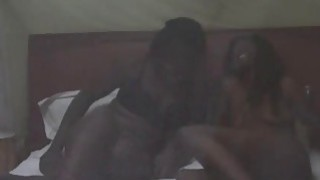 Young African Lesbians Lick Their Moist Pussies In Bedroom Preview Image