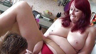 OLDNANNY Teen lesbian stick toy to_old granny cunt Preview Image