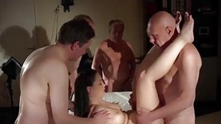 Big tits young hottie gangbang fucking 5 old men Preview Image