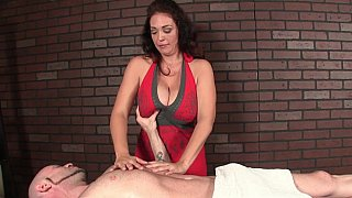 Milf with huge natural tits massaging Preview Image