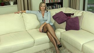 Polish Milf teasing in pantyhose Preview Image