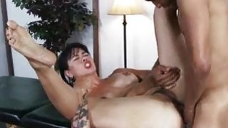 Sexy milf Dana Vespoli assfucked on massage table Preview Image