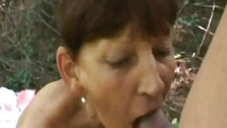 Hot mature devours heavy dick in sexy outdoor porn scenes Preview Image