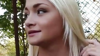 Pretty amateur blonde eurobabe gets fucked_in the woods Preview Image