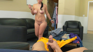 Kimmy Kush gives an okay blowjob and wraps her breasts around the shaft Preview Image