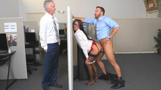 Aubrey Rose almost gets caught, getting fucked by her dad's employee Preview Image