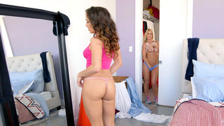Mila Marx caught her stepmom Tylo Duran in the closet with her tits out Preview Image