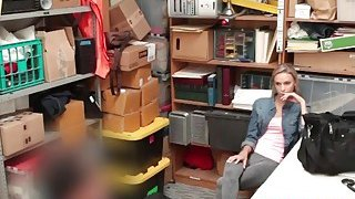 Blonde teen shoplifter fucked hard by a security guard inside the office Preview Image